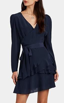 FiveSeventyFive Women's Ruffle Silk Crepe Minidress - Navy