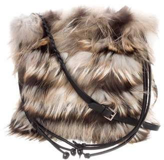 Valentino Fur Shoulder Bag multicolor Fur Shoulder Bag