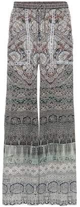 Camilla Embellished printed silk pants