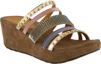 Spring Step Azura by Embellished Leather Slides- Oletha
