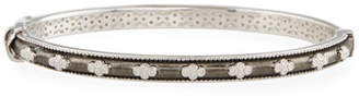 Jude Frances Encore Provence Bangle Bracelet with White Topaz