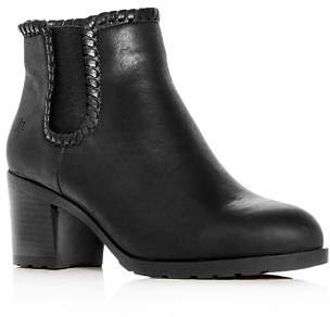 Jack Rogers Jack Rodgers Women's Pippa Leather Block-Heel Booties