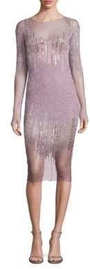 Pamella Roland Sequin& Crystal Embellished Dress