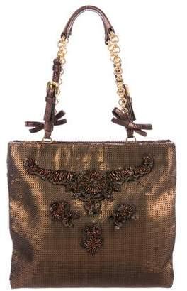 Prada Embellished Sequin Handle Bag