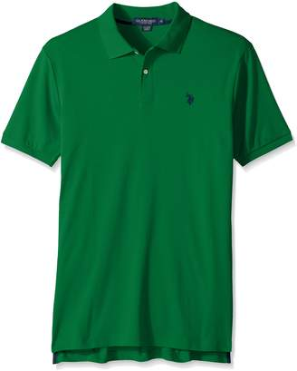 U.S. Polo Assn. Men's Solid Interlock Short-Sleeve Polo Shirt