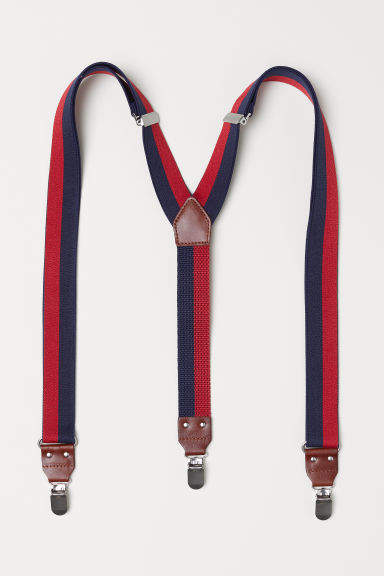 H&M - Striped Suspenders - Blue