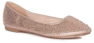 Ralph Lauren Lorraine Bret Crystal Embellished Flat