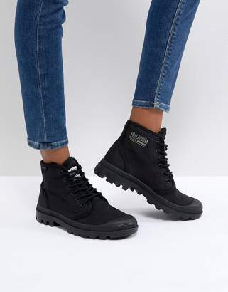 Palladium Pampa Hi Originale TC Black Canvas Flat Ankle Boots