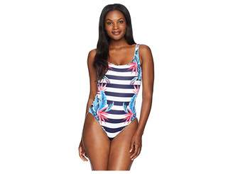Tommy Bahama Palms Paradise Reversible Lace Back One-Piece Women's Swimsuits One Piece