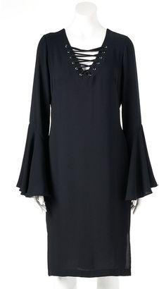 Women's Jennifer Lopez Lace-Up Shift Dress $68 thestylecure.com