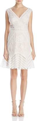 Tadashi Shoji Lace V-Neck Dress $408 thestylecure.com