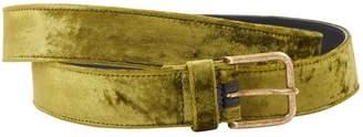 Dries Van Noten Green Leather Belts