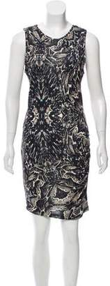 Haute Hippie Sleeveless Printed Knee-Length Dress