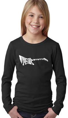 LOS ANGELES POP ART Los Angeles Pop Art Master Of Puppets Long SleeveGirls Word Art T-Shirt