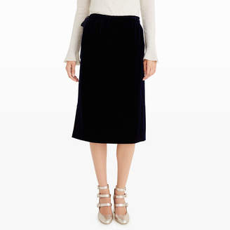 Club Monaco Linzy Velvet Skirt