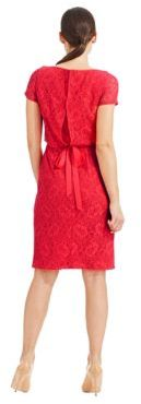 Adrianna Papell Short Sleeve Lace Dress