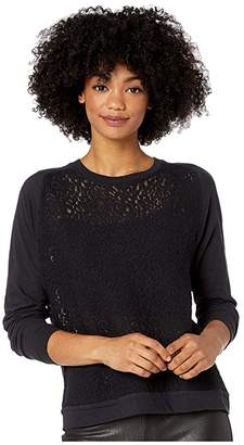 Majestic Filatures Lace Long Sleeve Pullover Top