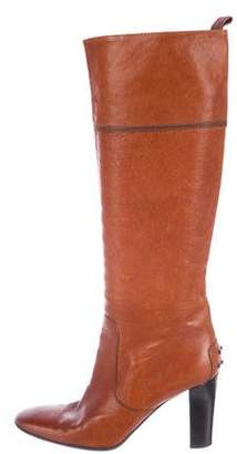 Tod's Knee-High Pointed-Toe Boots