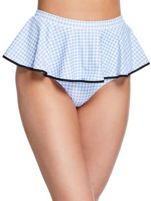 3f4e895ff3e1a Marysia Swim Piana High-Waist Peplum Skirted Bikini Bottoms