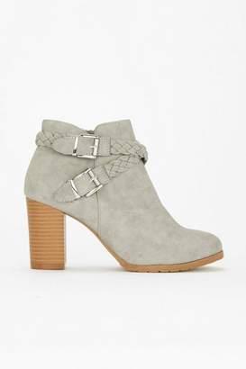 Wallis Grey Heeled Ankle Boot