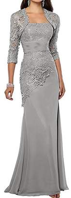 Camilla And Marc Pretygirl Women's Lace Long Mother of the Bride Dress with Jacket Evening Gowns (US 12, )