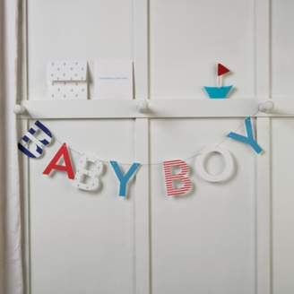 The White Company Baby Boy Bunting Card