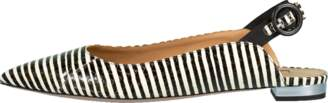 Aquazzura Striped Snake Yale Ballet Flat
