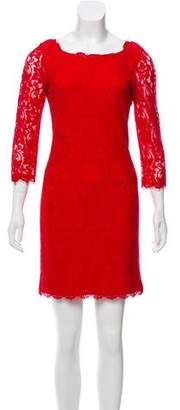 Diane von Furstenberg Lace Scoop Neck Dress