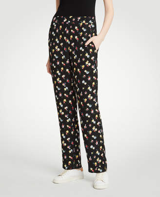 Ann Taylor Winter Floral Easy Pants