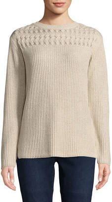 ST. JOHN'S BAY Pointelle Yoke Sweater - Tall
