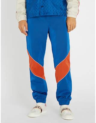 Gucci Contrast panels woven jogging bottoms
