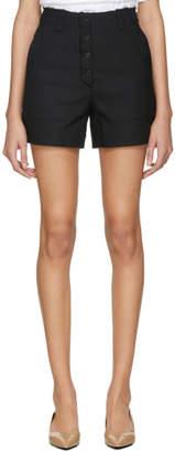 Proenza Schouler Black Stretch Suiting Shorts