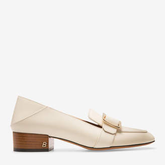 Bally Janelle White, Women's calf leather pump with 30mm heel in bone