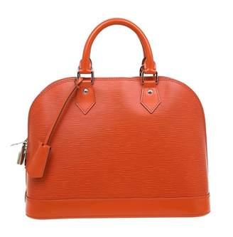 Louis Vuitton Alma Orange Leather Handbag