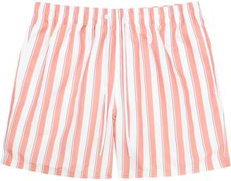 Reiss Flint - Striped Swim Shorts in Soft Pink