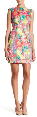 Tahari Floral Sheath Dress (Petite) $128 thestylecure.com