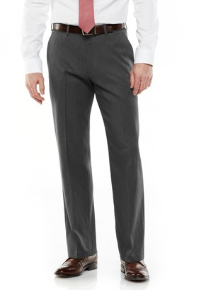 Van Heusen Big & Tall Ultimate Traveler Melange Straight Fit Flat Front Dress Pants