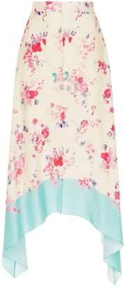 Vilshenko Moira Ink Floral Skirt