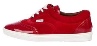 Jimmy Choo Wingtip Suede & Patent Sneakers