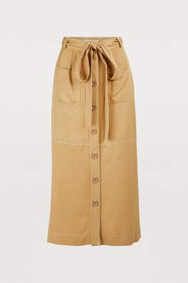 See by Chloe Buttoned midi skirt