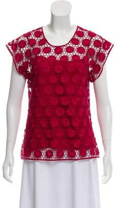 Marc Jacobs Crocheted Silk-Lined Blouse