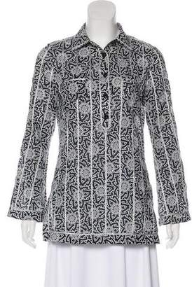 Tory Burch Printed Long Sleeve Tunic