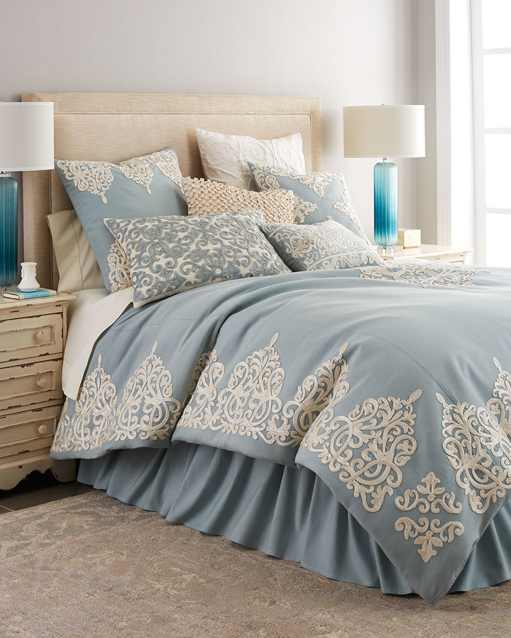 Callisto Callisto Home Rienzo King Soutache Duvet Cover