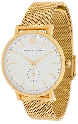 Larsson & Jennings Lugano Jura Milanese 38mm watch