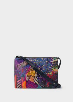 Paul Smith Women's Concertina 'Dreamer' Print Leather Cross-Body Bag
