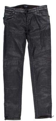 Armani Jeans Coated Mid-Rise Jeans