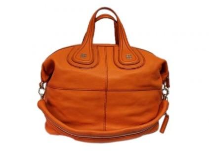 Givenchy pristine (PR Medium Nightingale Orange Goat Leather Hobo Bag