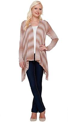 Women With Control Attitudes by Renee Open Front Cascade Ombre Cardigan