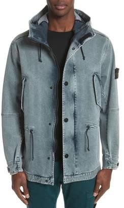 Stone Island Long Hooded Denim Jacket