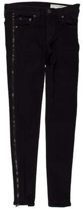 Rag & Bone The Zipper Tuxedo Mid-Rise Skinny Jeans